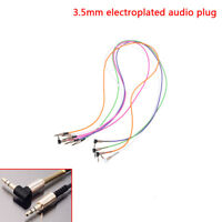 3.5mm jack cord stereo audio cables male to male 90degree right angle aux EC