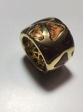18 Kt Gold Roberto Coin Giraffe Wide Enamel Tapered Ring