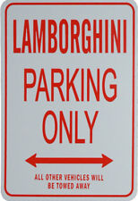 LAMBORGHINI PARKING ONLY - MINIATURE FUN PARKING SIGNS