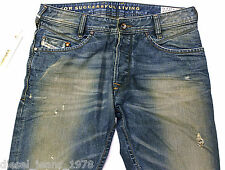 BRAND NEW DIESEL POIAK 885Y JEANS 31X32 0885Y REGULAR SLIM FIT TAPERED LEG