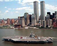 USS JOHN F KENNEDY AIRCRAFT CARRIER NYC 8x10 SILVER HALIDE PHOTO PRINT