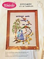 Vintage Wonder Art Crewel Kit Embroidery Without Love There Is No Joy House path