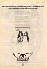 Aerosmith Draw The Line UK LP advert 1978