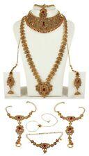 9064  INDIAN BOLLYWOOD GOLD TONE WEDDING FASHION BRIDAL JEWELRY NECKLACE SET