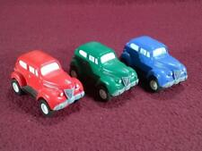 DISNEY APPLAUSE - 3 DICK TRACEY FRICTION ACTION CARS - PLASTIC/RUBBER