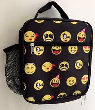 Lunch Bag Emoji Insulated Multi Pockets Handle Bottle Holder Fun Bday School