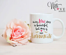 LOVE STORY MUG CUP PERSONALISED WEDDING ANNIVERSARY VALENTINES DAY PRESENT GIFT