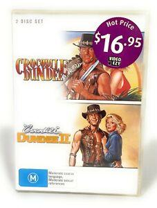 Crocodile Dundee 1 & 2 (DVD, 2-Disc Set) Paul Hogan New & Sealed Region 4