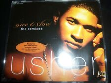 Usher Nice & Slow The Remixes Australian CD Single - Like New