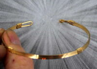 BRACELET  IN  14KT ROLLED GOLD WIRE  -------  SIZE 5 TO 9 --------- WIRE WRAPPED