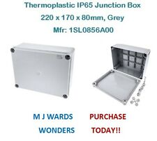 Thermoplastic IP65 Junction Box, 220 x 170 x 80mm, Grey - Mfr: 1SL0856A00