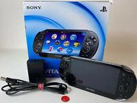 Playstation Vita PCH-1104 Konsole PS Vita Schwarz gebraucht Version 3.73 in OVP