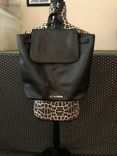 NEW VICTORIA SECRET Black Backpack Book Bag Fashion Show & Pink Dog