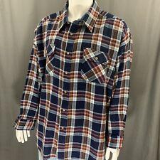 Sears Vintage 70's Multi-Colored Plaid Button Front Ls Work Shirt Size 4Xl Big