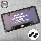 For Audi S Front Or Rear Carbon Fiber Texture License Plate Frame Cover Gift