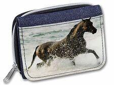 Black Horse in Sea Girls/Ladies Denim Purse Wallet Christmas Gift Idea, AH-2JW
