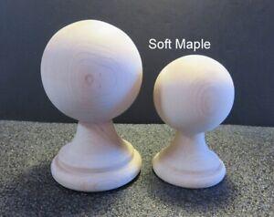 "Wooden Finial bed post 5 /"" Wood Choice Oak Maple Cherry Walnut or Mahogany #65"