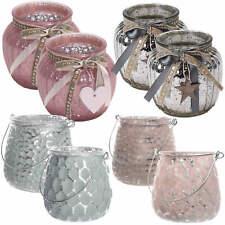 Design 2x Windlicht Glas Kugel Teelichthalter Kerzenständer Kerzenhalter Shabby