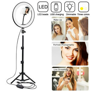 12 in LED Ring Light with 1.6m Tripod Stand Bluetooth Remote Photo Video Selfie