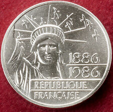 France Silver 100 Francs 1986 Centenary of the Statue of Liberty