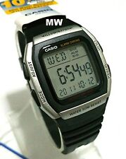 Casio W-96h-1a Digital Retro Resin Dual Time 10 Year Battery Black Watch W96h