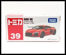 TOMICA #39 AUDI R8 1/62 TOMY DIECAST CAR 2017 June New Model Red