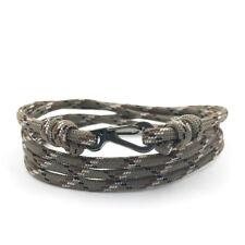 Desert Camo Adjustable Carabiner Rope Bracelet | Climbing bracelet