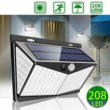 Solar Powered 208 LED PIR Motion Sensor Wall Security Lights Outdoor Garden Lamp