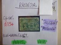 RHODESIA STAMP S.G. 167 ½d BLUE GREEN V.F.U.