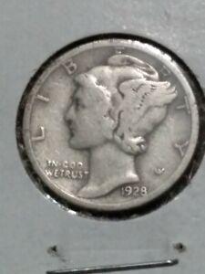 1928 P Silver Mercury Dime .10¢