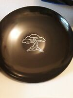"Vintage Couroc of Monterey Black inlaid 13""  Bowl Bonsai Tree"