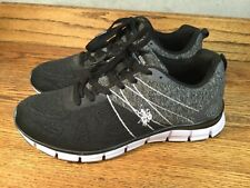 US POLO Women's Shoes Black Canvas Sneakers Size 8.5 Excellent Cond