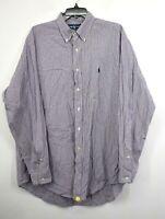 Ralph Lauren Mens Multicolor Plaid Long Sleeve Button-Down Oxford Dress Shirt