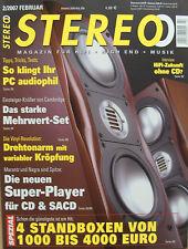 Stereo 2/07 Marantz sa-7, Elac FS 137, kef IQ 7, Denon d-f103 HR, Nagra cdc