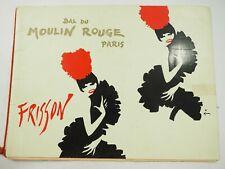 Bal Du Moulin Rouge Paris Frisson Revue Program 1965