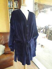 VESTE SONIA RYKIEL velours bleu marine T.XL VINTAGE velvet jacket size XL RYKIEL