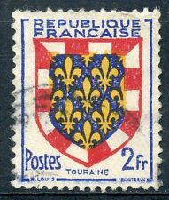 TIMBRE de FRANCE OBLITERE N° 902 BLASON TOURAINE / Photo non contractuelle