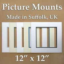 "Picture Mounts - 12"" x 12"" double mounts, packs of 5"
