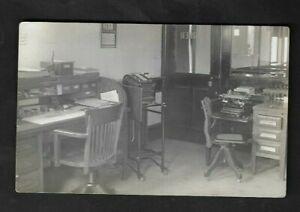 1914 Dillsburg(PA) Public School Asst. Principal's Office(Royal Typewriter) RPPC