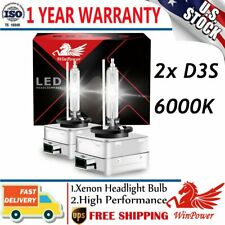 2PCS D3S D3R D3C 6000K Super White Xenon HID Bulbs White Repalce Factory Bulbs
