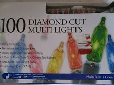 Merry Bright 100 Diamond Cut Multi-Color Lights - New