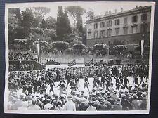 1929 ADUNATA GOGLIARDICA FASCISTA Roma Piazza del Popolo Istituto Nazionale Luce