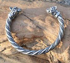 Celtic Cat Sterling Silver Bracelet Irish Scottish Bangle Jewelry Jewellery 925