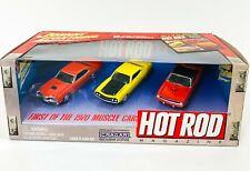 JOHNNY LIGHTNING Hot Rod Magazine 1970 Muscle Cars 3 Car Set Cragar 1:64 NEW