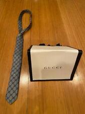Rare! Authentic Men's Gucci Slim Tie - Grey & Blue