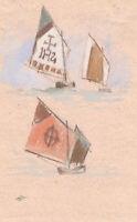 Attrib. Keeley Halswelle RI ARSA, Venetian Boats – c.1873 watercolour painting