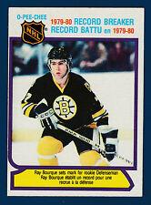 RAY BOURQUE 80-81 O-PEE-CHEE  1980-81 NO 2 EXMINT+