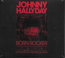 JOHNNY HALLYDAY ALBUM 1 CD +1 DVD *BORN ROCKER TOUR*  NEUF SOUS BLISTER