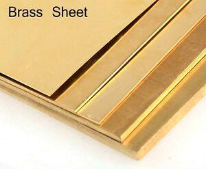 2mm - BRASS SHEET/PLATE - guillotine cut - model making - various sizes