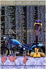 HARLEY DAVIDSON AMERICAN VETERANS MEMORIAL WALL GOLD STAR ART PRINT